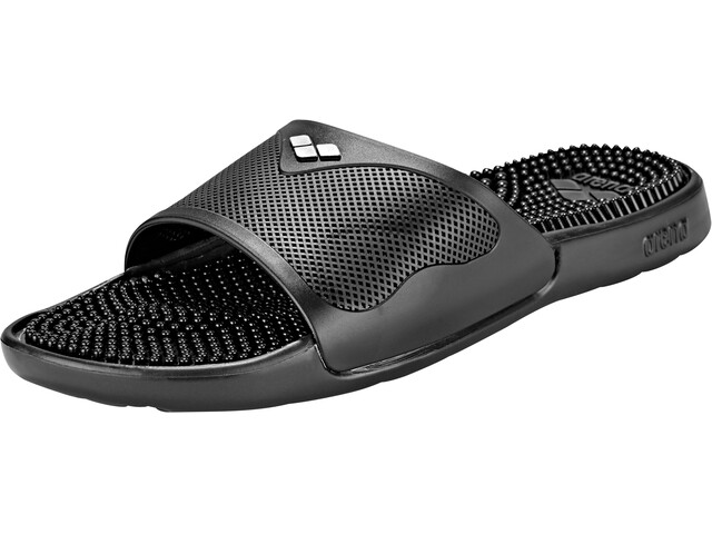 arena Marco X Grip Hook Sandals solid black-silver